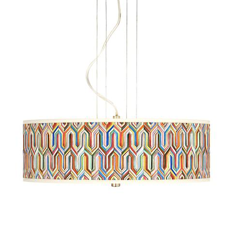 "Synthesis 20"" Wide 3-Light Pendant Chandelier"