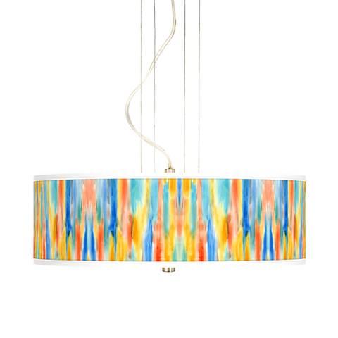 """Tricolor Wash 20"""" Wide 3-Light Pendant Chandelier"""