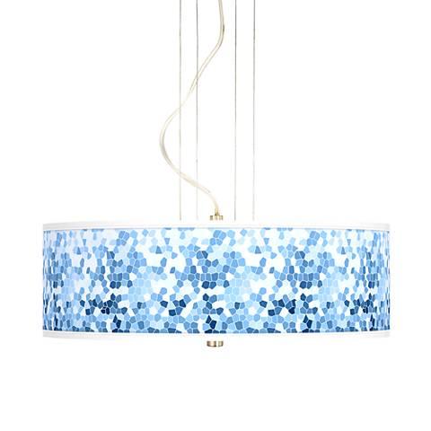"Ocean Mosaic 20"" Wide 3-Light Pendant Chandelier"