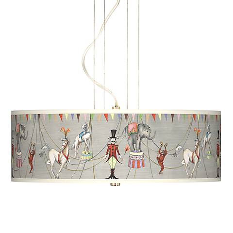 """Circus Time Giclee 20"""" Wide Pendant Chandelier"""