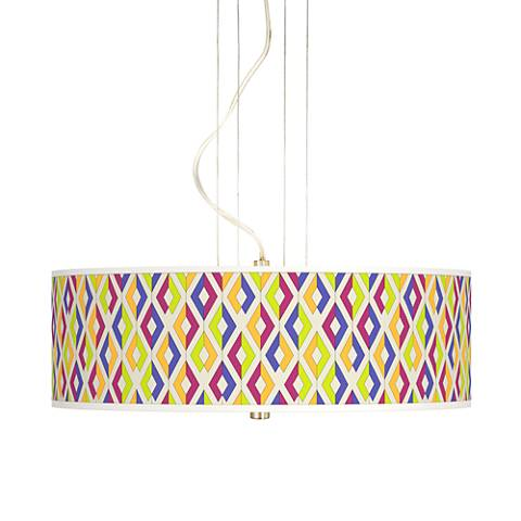 "Chromatic Diamonds 20"" Wide 3-Light Pendant Chandelier"