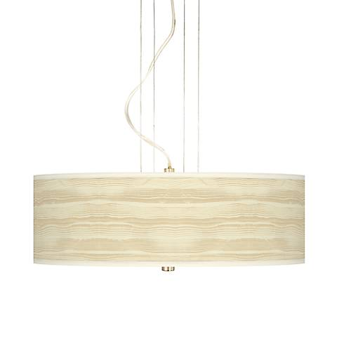 "Birch Blonde 20"" Wide 3-Light Pendant Chandelier"