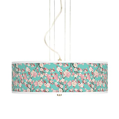 "Cherry Blossoms 20"" Wide 3-Light Pendant Chandelier"