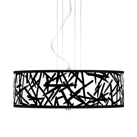 "Sketchy 20"" Wide 3-Light Pendant Chandelier"