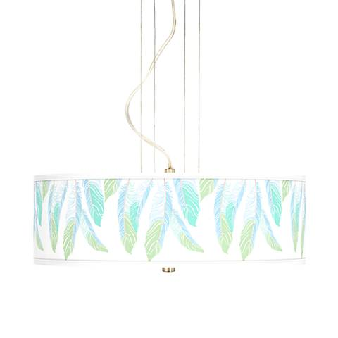 "Light as a Feather 20"" Wide 3-Light Pendant Chandelier"