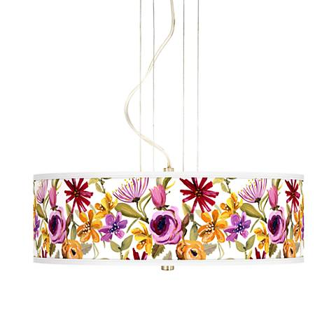 "Bountiful Blooms 20"" Wide 3-Light Pendant Chandelier"