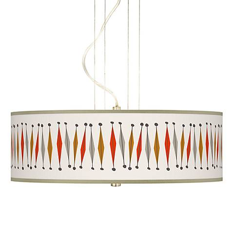 "Tremble Giclee 20"" Wide 3-Light Pendant Chandelier"