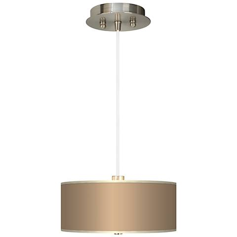 "Mesa Tan Giclee 10"" Wide Two Light Pendant Chandelier"