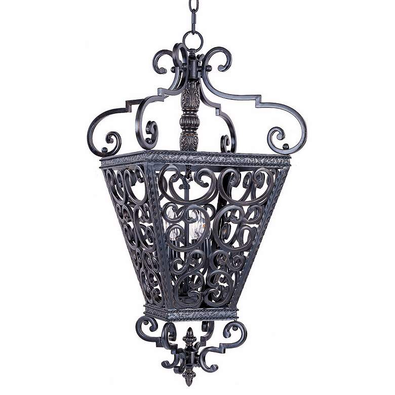 "Southern Collection 22"" Wide Four Light Entry Chandelier"