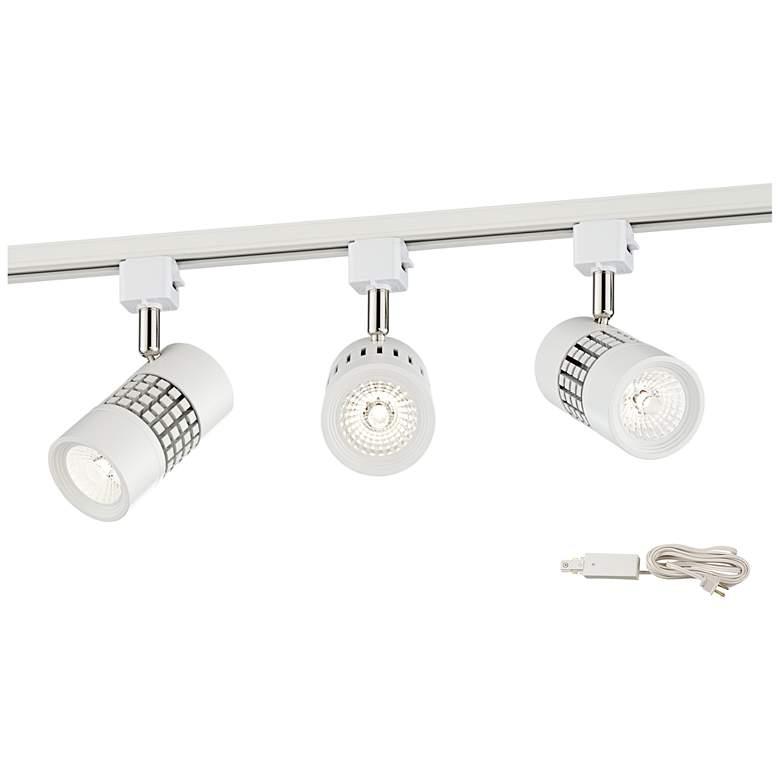 Klemm LED Grid White 3-Light Plug-In Linear Track