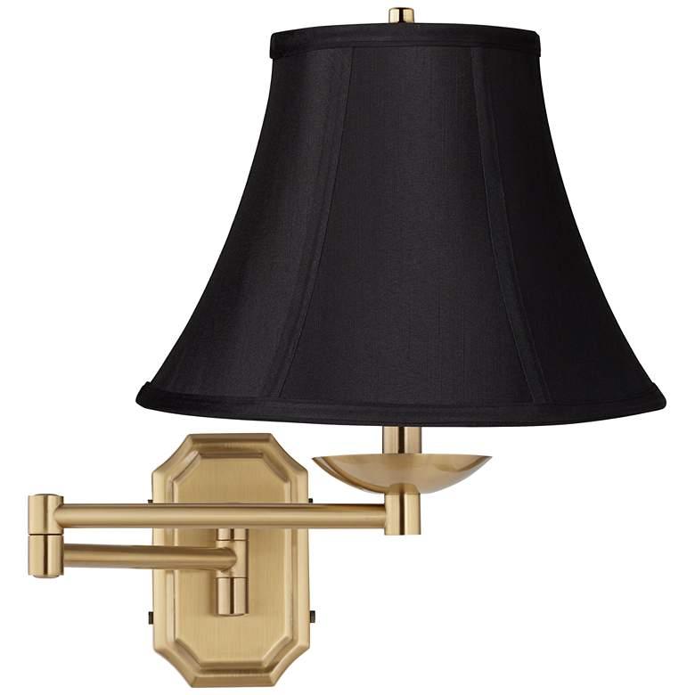 Black Bell Alta Cut Corner Antique Brass Swing Arm