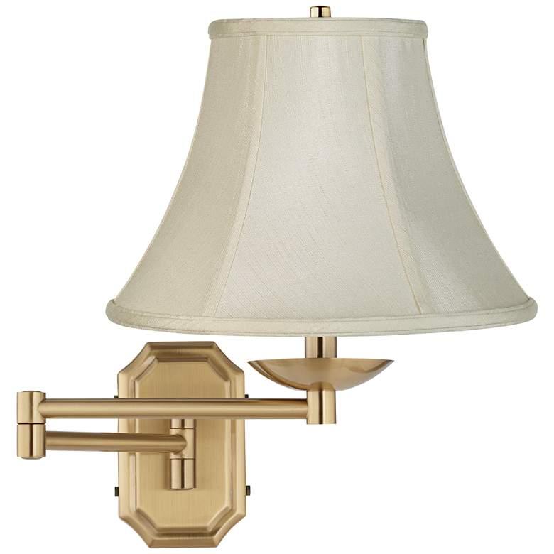 Creme Bell Alta Cut Corner Antique Brass Swing Arm