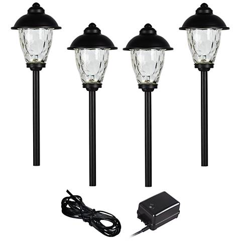 Concord 6-Piece Black Complete LED Landscape Lighting Set