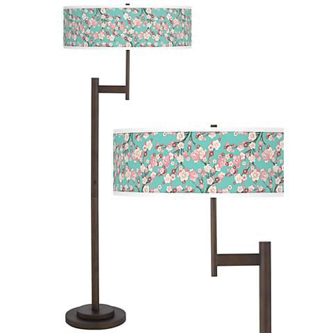 Cherry Blossoms Parker Light Blaster™ Floor Lamp