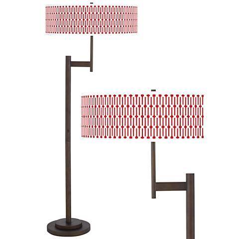 Amaze Giclee Parker Light Blaster™ Bronze Floor Lamp