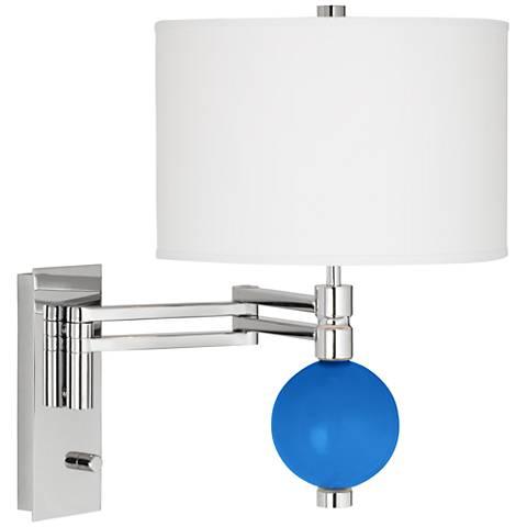 Royal Blue Niko Swing Arm Wall Lamp