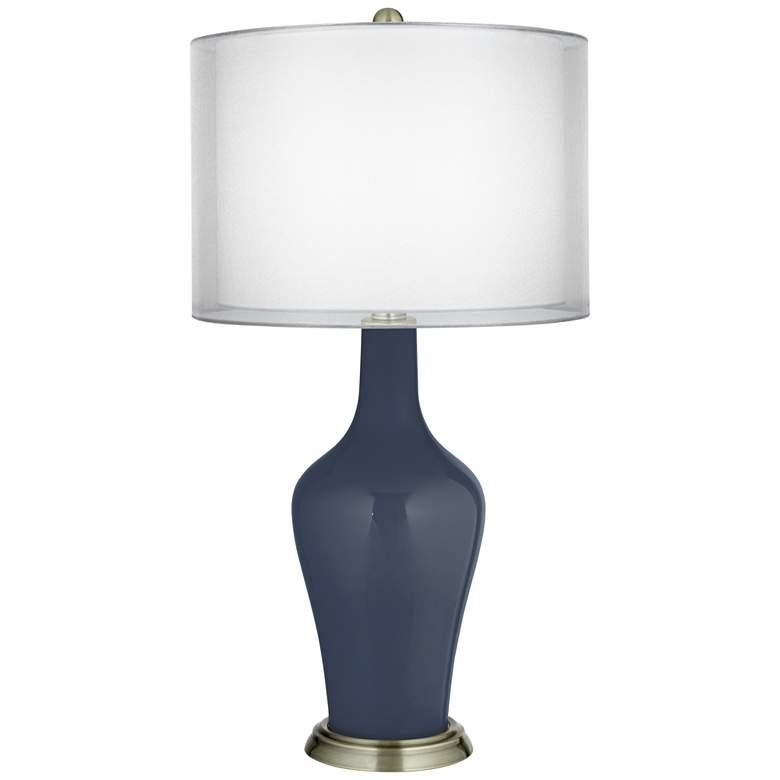 Naval Double Sheer Silver Shade Anya Table Lamp