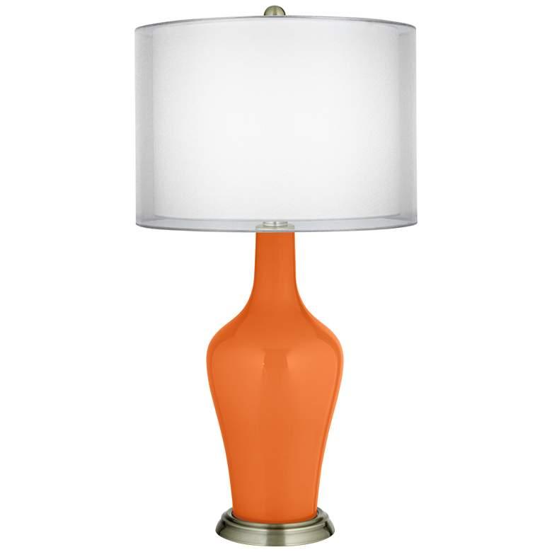 Invigorate Double Sheer Silver Shade Anya Table Lamp