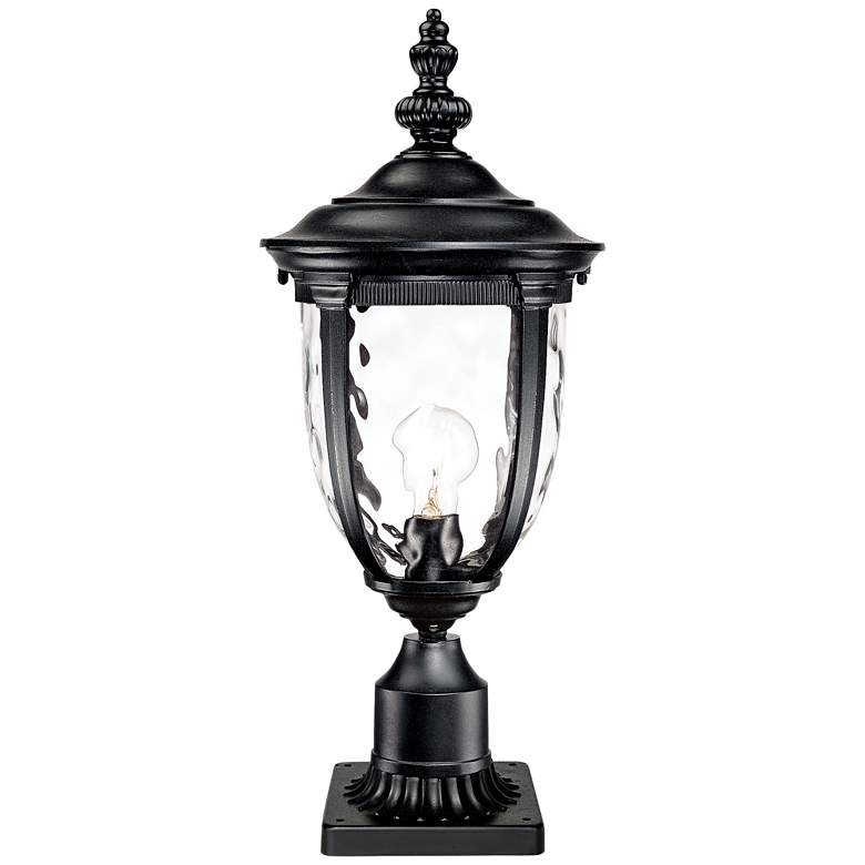 """Bellagio 24 1/2""""H Black Post Light with Pier Mount Adapter"""
