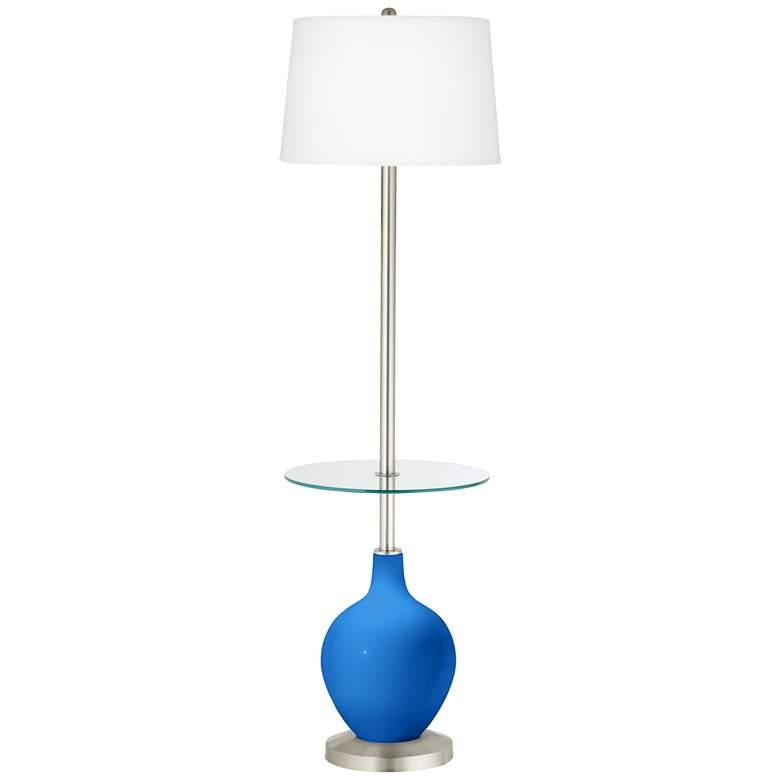 Royal Blue Ovo Tray Table Floor Lamp