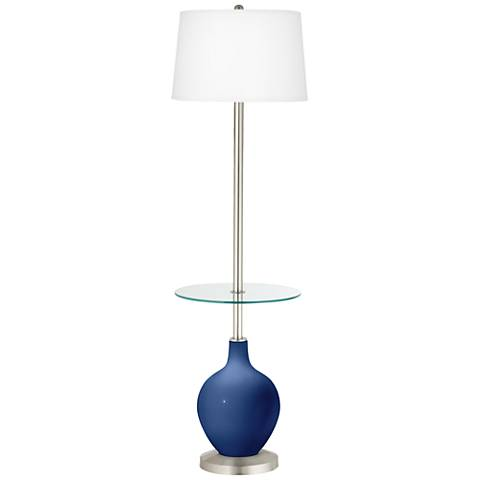 Monaco Blue Ovo Tray Table Floor Lamp