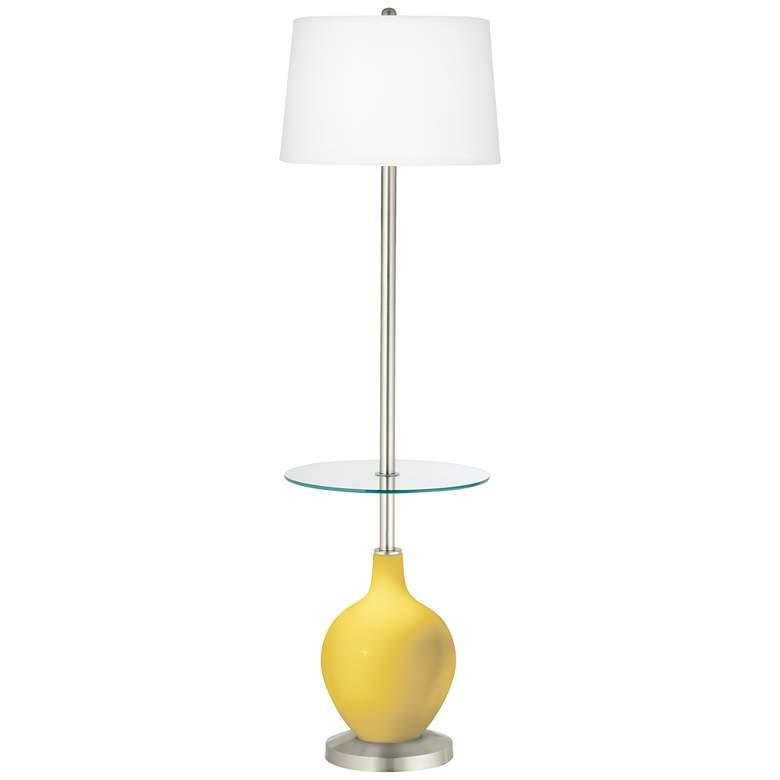 Lemon Zest Ovo Tray Table Floor Lamp