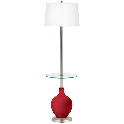 Ribbon Red Ovo Tray Table Floor Lamp