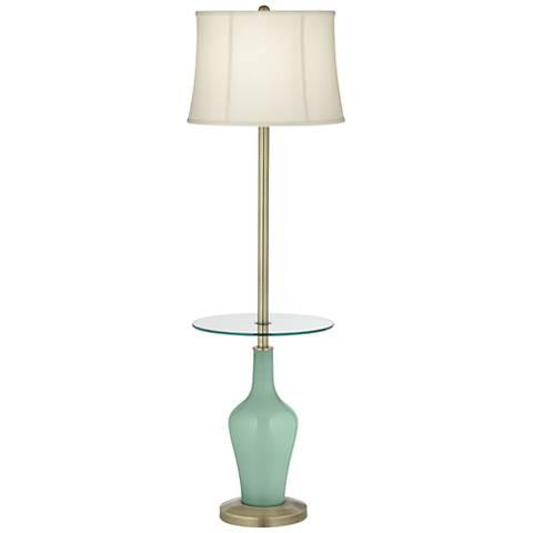 Grayed Jade Anya Tray Table Floor Lamp