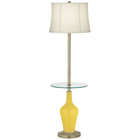 Lemon Zest Anya Tray Table Floor Lamp