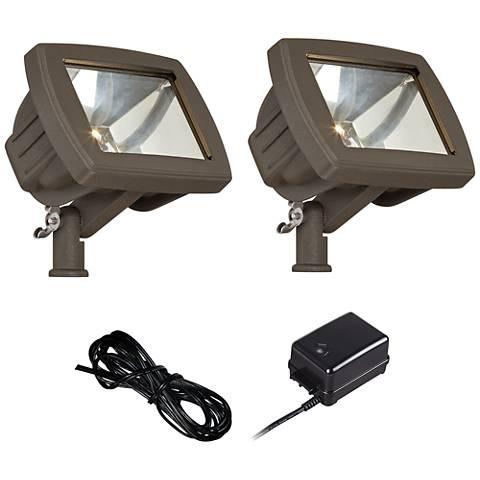 LED Flood Light Landscape Kit in Bronze