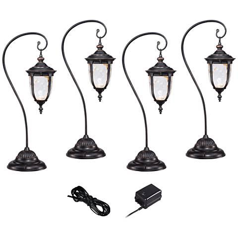 Bellagio Bronze 6-Piece LED Landscape Light Kit Set