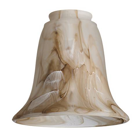 """2 1/4"""" Fitter Set of 4 Marbleized  Glass Bell Shades"""