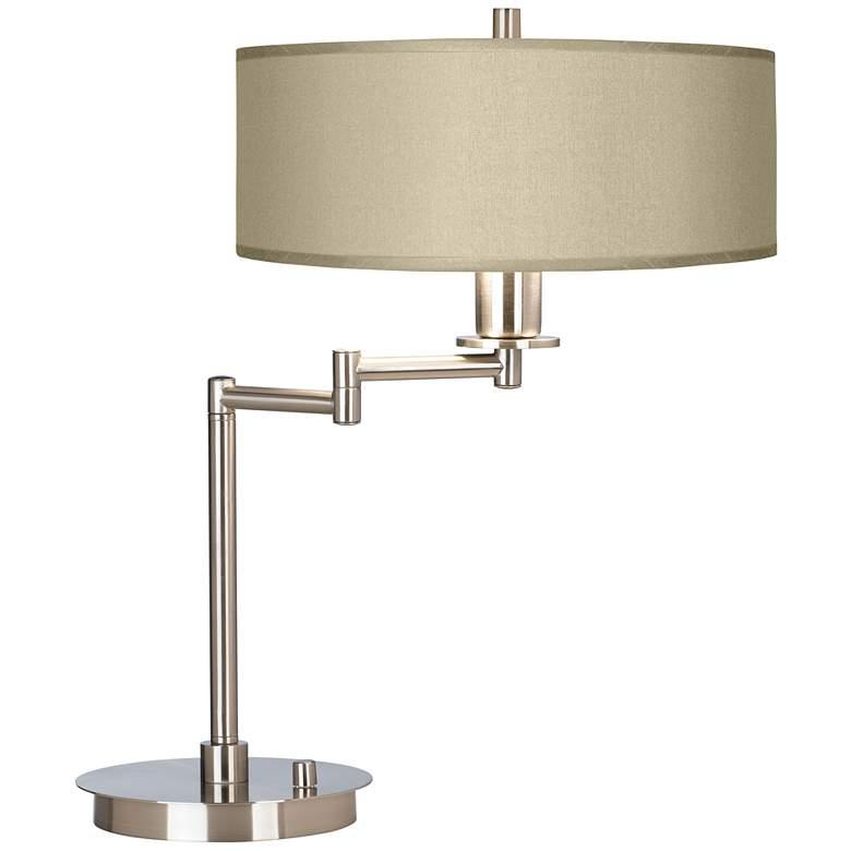 Sesame Faux Silk Modern Swing Arm Desk Lamp