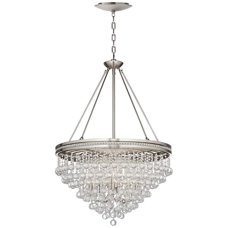 """Regina 28""""W Crystal Chandelier with LED Canopy"""
