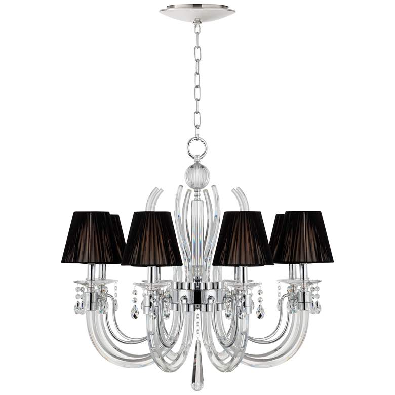"""Derry Street Crystal 32""""W Black Chandelier with LED Canopy"""