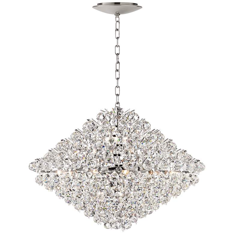 """Essa 31 1/2""""W Crystal Pendant with LED Canopy"""