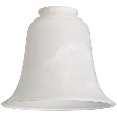 """Bell Shaped Marbleized Glass 2 1/4"""" Shades - Set of 4"""