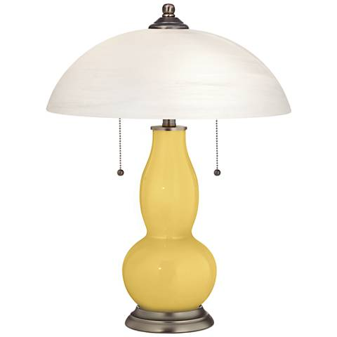 Daffodil Gourd-Shaped Table Lamp with Alabaster Shade