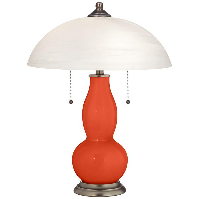 Daredevil Gourd-Shaped Table Lamp with Alabaster Shade