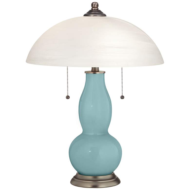 Raindrop Gourd-Shaped Table Lamp with Alabaster Shade