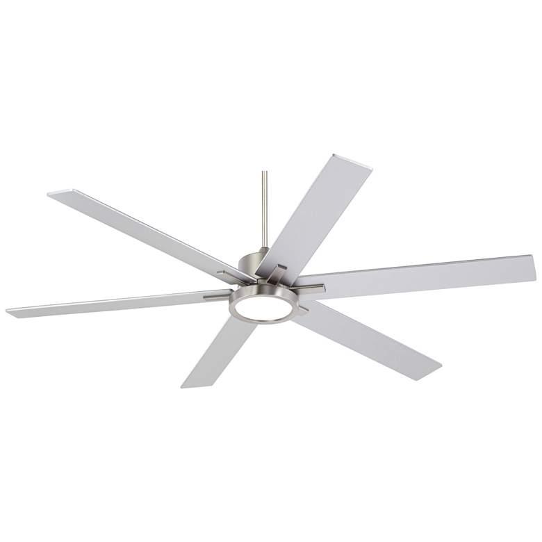 "70"" Nucleus® Casa Vieja Brush Nickel LED Ceiling Fan"