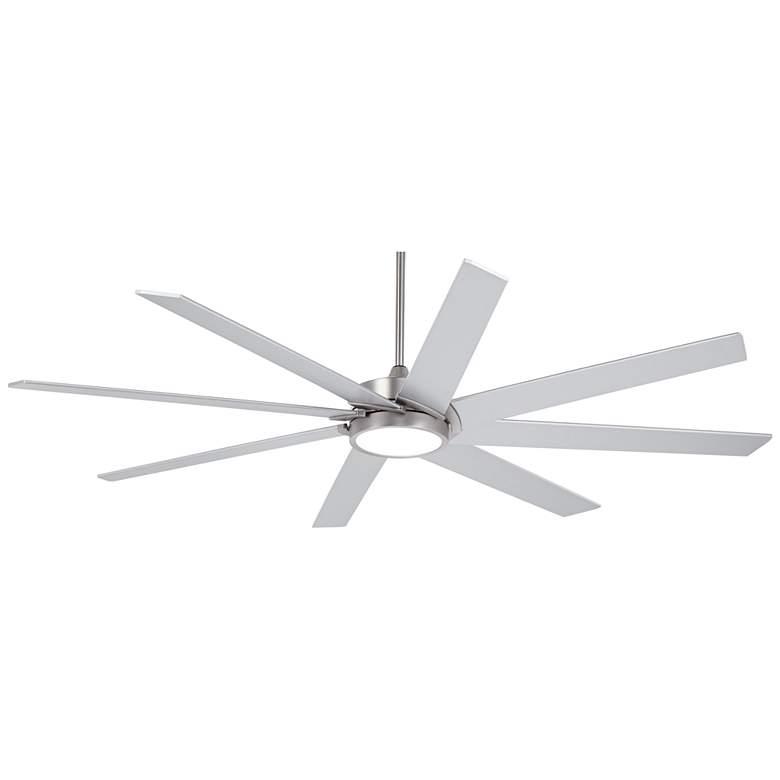 "65"" Possini Euro Destination Brushed Nickel LED Ceiling Fan"