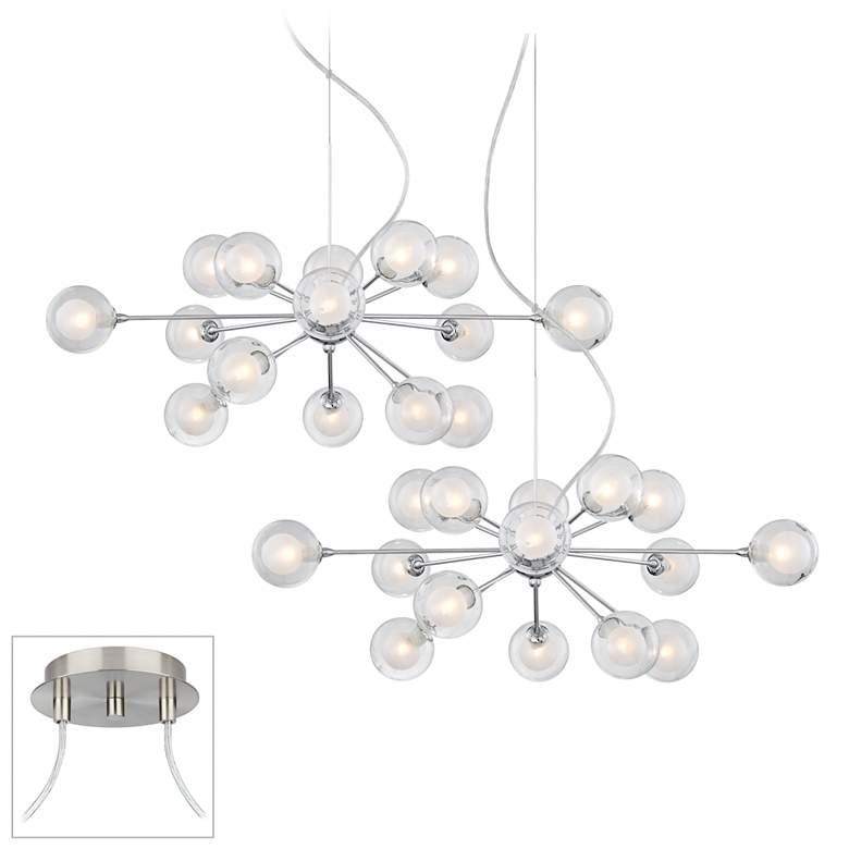 Possini Euro Design Spheres 30-Light Glass Pendant