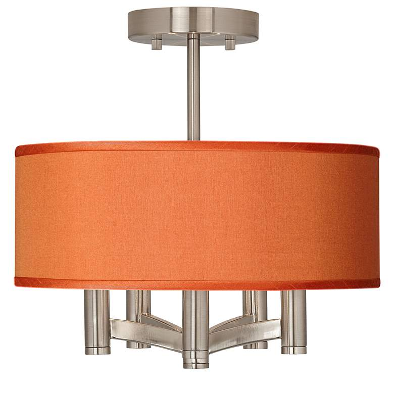 "Ava 5-Light 14""W Nickel Ceiling Light with Translucent Shade"