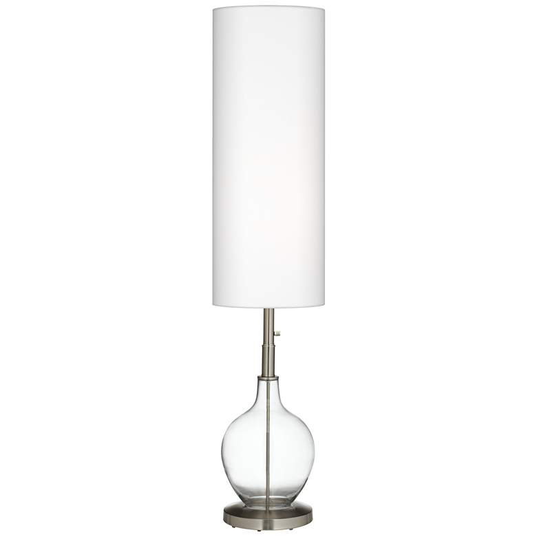 """Clear Glass Fillable 60"""" High Ovo Floor Lamp"""