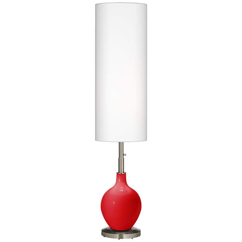 Bright Red Ovo Floor Lamp