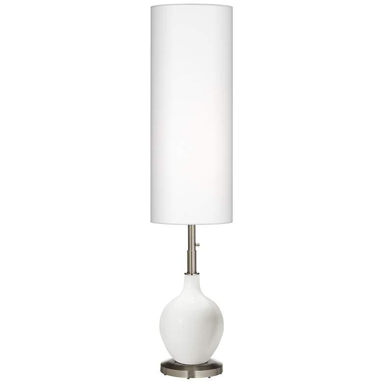 Winter White Ovo Floor Lamp
