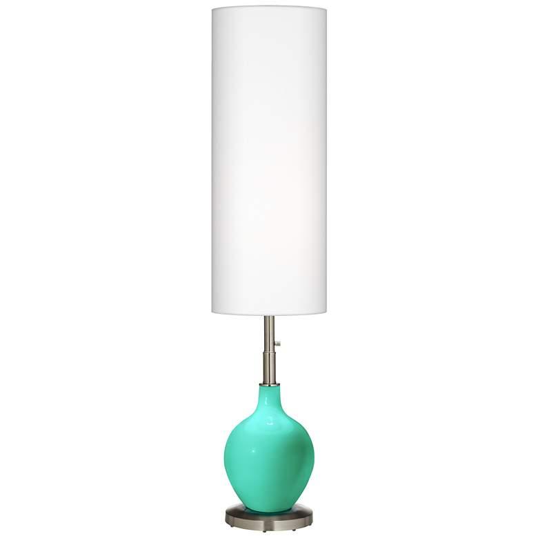 Turquoise Ovo Floor Lamp