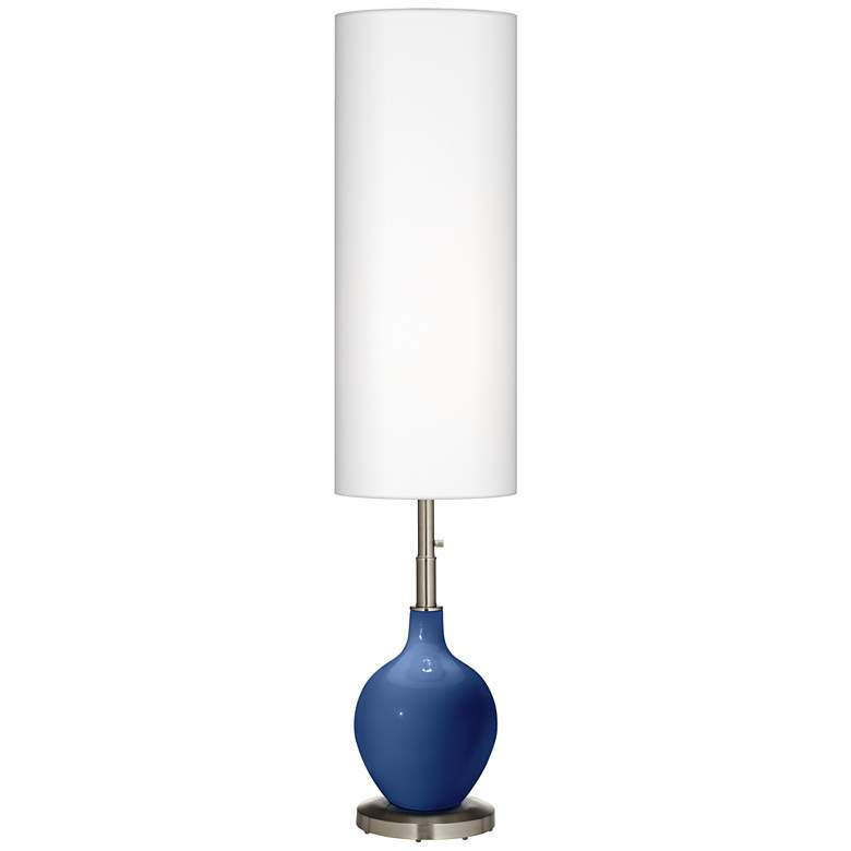 Monaco Blue Ovo Floor Lamp