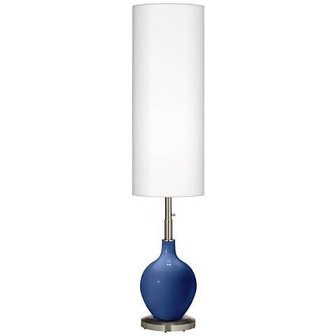 Monaco Blue Ovo Floor Lamp